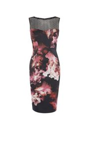 Karen Millen Midnight Orchid Pencil Dress