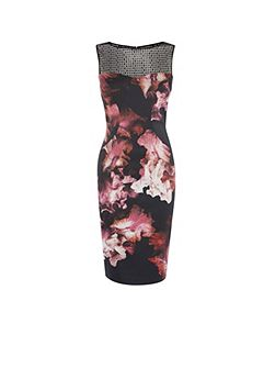 Midnight Orchid Pencil Dress