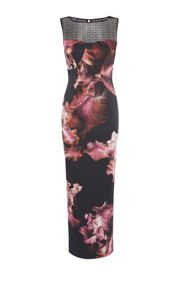 Karen Millen Midnight Orchid Maxi Dress
