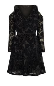 Karen Millen Velvet Devore Mini Dress