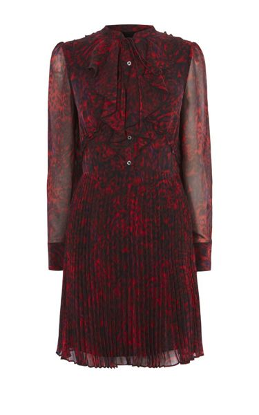 Karen Millen Leopard Print Shirt Dress