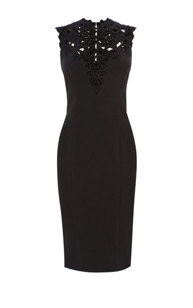 Karen Millen Cut Out Yoke Pencil Dress