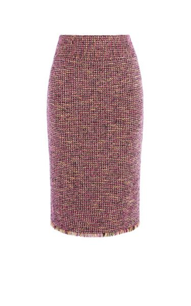 Karen Millen Fringed Tweed Skirt