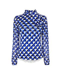 Blue Geo Blouse