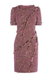 Karen Millen Fringed Tweed Dress