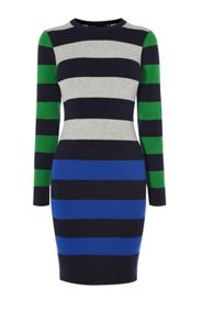 Karen Millen Colourblock Stripe Dress