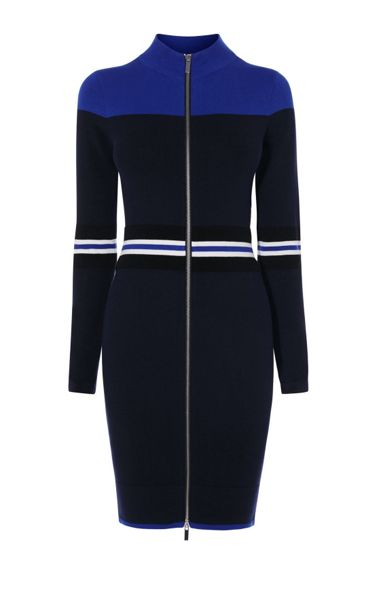 Karen Millen Sporty Stripe Knit Dress