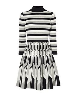 Monochrome Geo Knit Dress