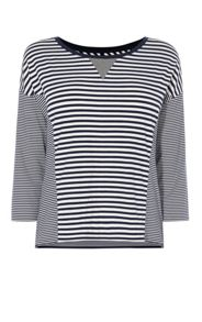 Karen Millen Breton Stripe Panel Top