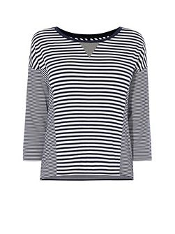 Breton Stripe Panel Top