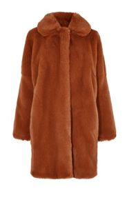 Karen Millen Teddy Fur Coat