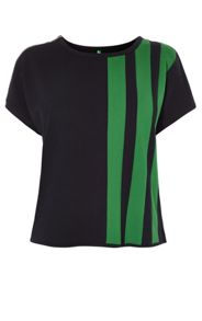 Karen Millen Green Stripe Box Top