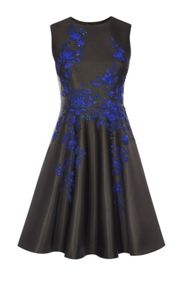 Karen Millen Applique Floral Prom Dress