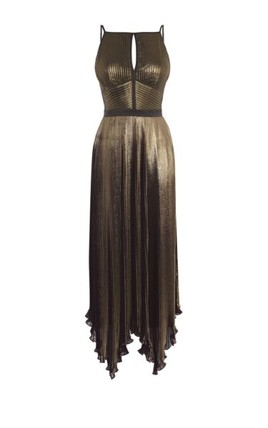 Karen Millen Metallic Pleat Dress