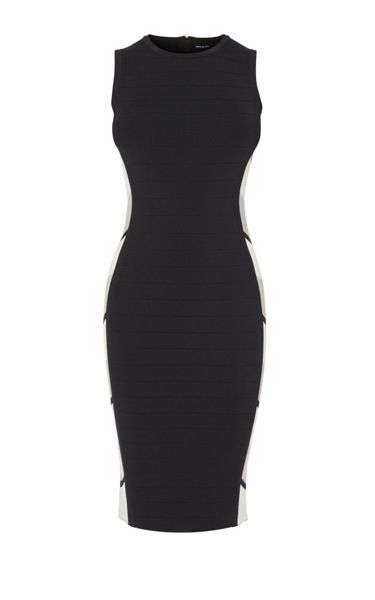 Karen Millen Black Geo Bandage Dress