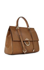 Karen Millen Large O-Ring Leather Handbag