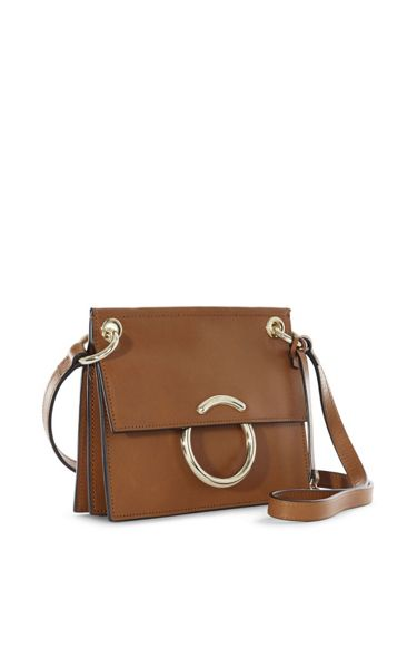Karen Millen Small Leather O-Ring Satchel