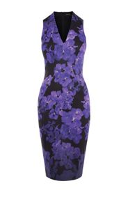 Karen Millen Floral Stretch Midi Dress