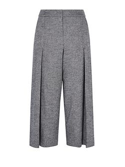 Cropped Tweed Trousers