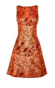 Karen Millen Rose Gold Jacquard Dress