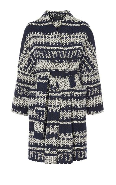 Karen Millen Knitted Geo Wrap Coat
