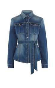 Karen Millen Belt Detail Denim Jacket