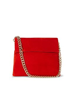 Suede Regent Chain Bag