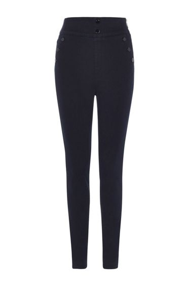 Karen Millen Nautical Button Legging