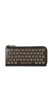 Karen Millen Studded Zip Purse