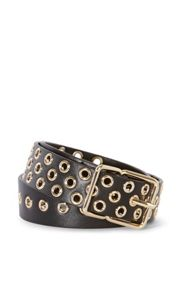 Karen Millen Leather Eyelet Belt