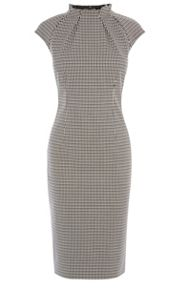 Karen Millen Pleat- Neck Detail Dress