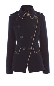 Karen Millen Navy Reefer Coat