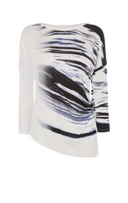 Karen Millen Draped Abstract Print Top