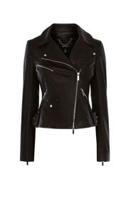 Karen Millen Black Leather Jacket
