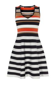 Karen Millen Striped Bandage Mini Dress