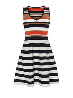 Striped Bandage Mini Dress