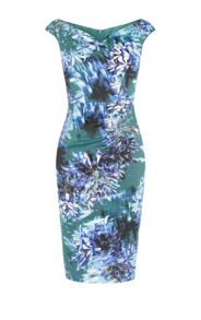 Karen Millen Floral Print V-Neck Dress