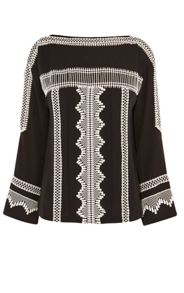 Karen Millen Lace-Adorned Boho Blouse