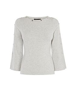 Silver Button Knitted Jumper