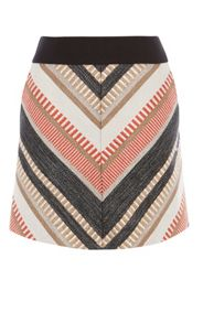 Karen Millen Tweed Chevron Skirt