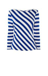 Karen Millen Striped Ponte-Knit Top