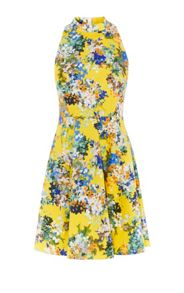 Karen Millen Floral Fit-And-Flare Dress