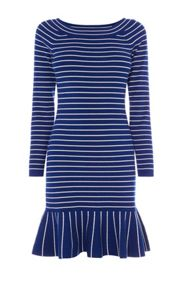 Karen Millen Fine Stripe Knit Dress