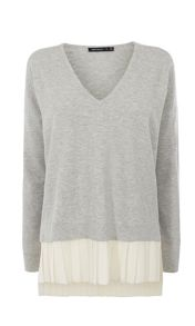 Karen Millen Georgette Pleat Detail Jumper