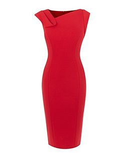 Fold Detail Pencil Dress