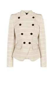 Karen Millen Neutral Military Jacket