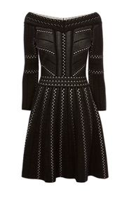 Karen Millen Lace Knit A-Line Dress