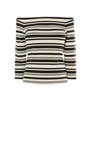 Karen Millen Bardot Shoulder Stripe Top