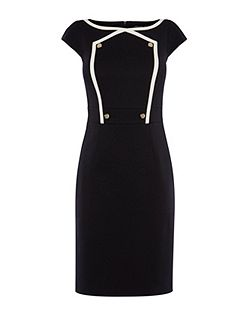 Button Detail Pencil Dress