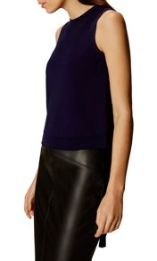 Karen Millen Lace Up Eyelet Top